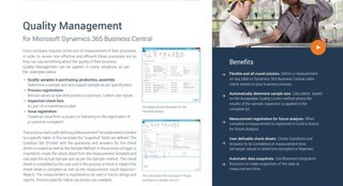 To-Increase Quality Management for Microsoft Dynamics 365 Business Central