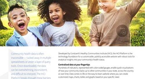 Healthy Communities Institute Platform
