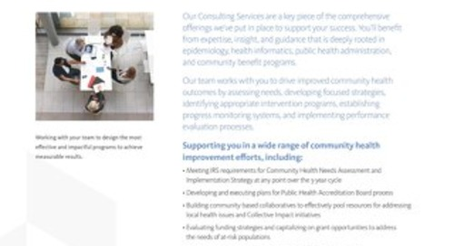 Healthy Communities Institute Consulting Services