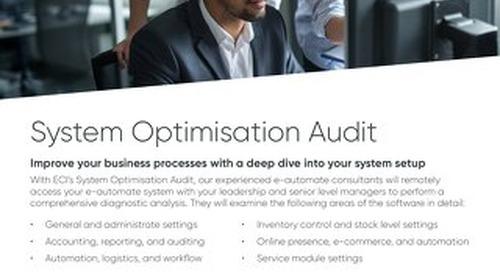 E-automate system optimisation audit UK