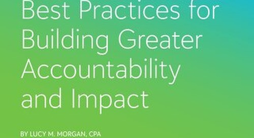 Social Good Case Study: Best Practices for Building Greater Accountability and Impact