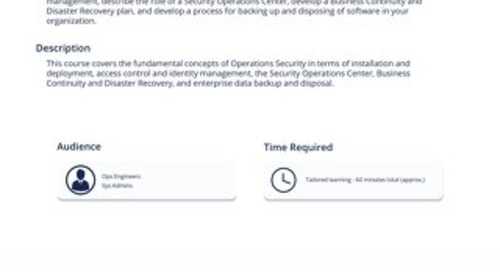 OPS101 - OpSec Fundamentals