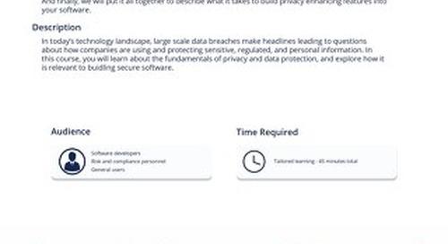 PRV101 - PRIVACY FUNDAMENTALS