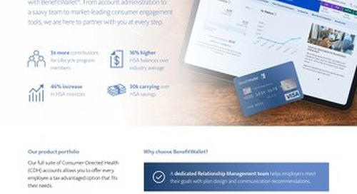 Market-Leading Consumer-Directed Health (CDH) Solutions from BenefitWallet®