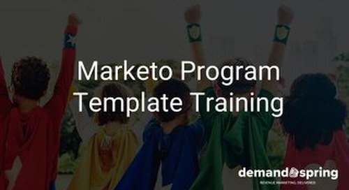 Marketo Email Program Template February 2020