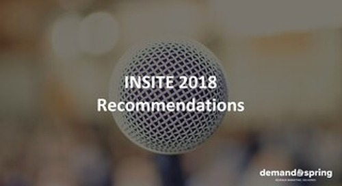 INSITE Strategy Recommendations May 2018