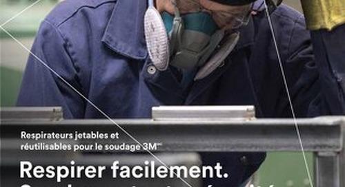 Respirateurs jetables et réutilisables pour le soudage 3M