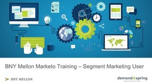 Segment Marketing Marketo Training November 2018