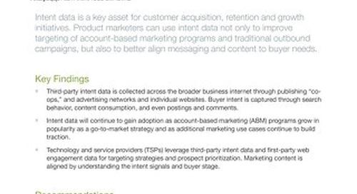 Gartner Emerging Technology Analysis: Leveraging Intent Data for Marketing and Demand Generation