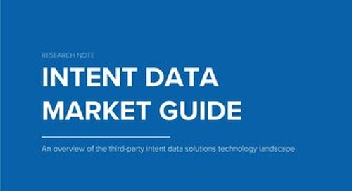 TOPO Intent Data Market Guide
