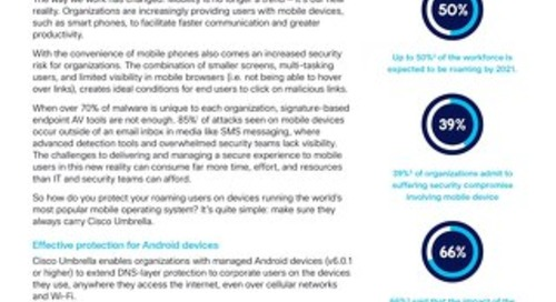 Secure Android users anywhere with Cisco Umbrella