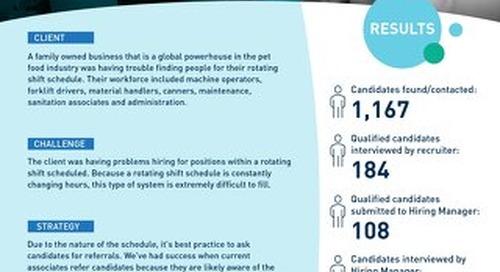 [Manufacturing] Associate Referrals and Digital Recruitment Lead to Successful Hiring Process Case Study