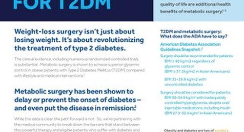 Surgery: A Treatment Option for T2DM