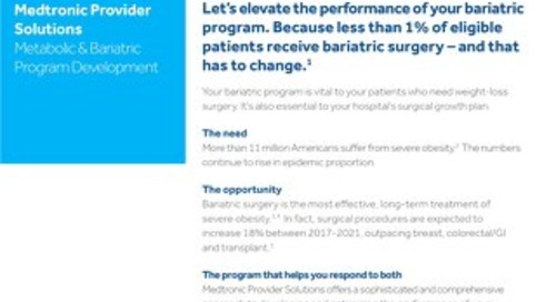 Medtronic Provider Solutions: Metabolic and Bariatric Program Development