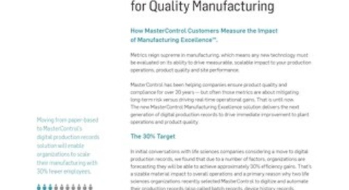 Metrics That Matter for Quality Manufacturing