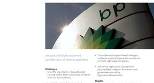 Case Study: BP Training Operations Transformation