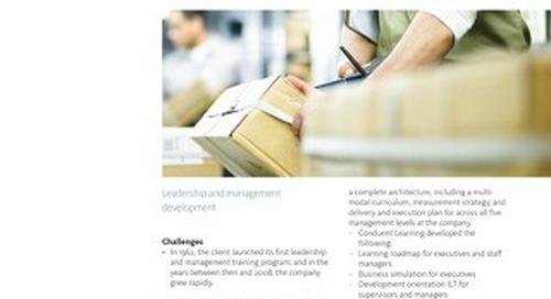 Case Study: Leadership and Management Development