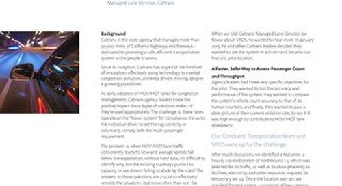 Caltrans Conduent VPDS - Study