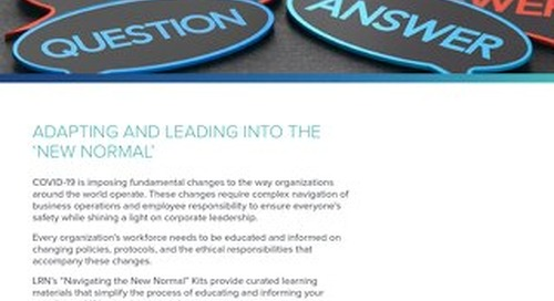 Adapting and Leading into The New Normal