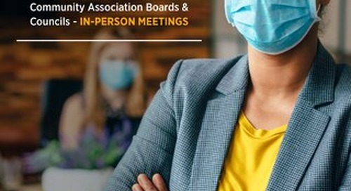 COVID-19: Considerations for Community Association Boards & Councils - IN-PERSON MEETINGS
