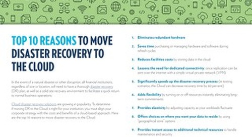 Top 10 Reasons to Move Disaster Recovery to The Cloud