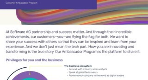 Join the Software AG Ambassador Program