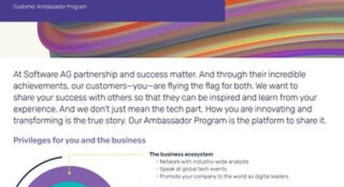 Join the Software AG Ambassador Program