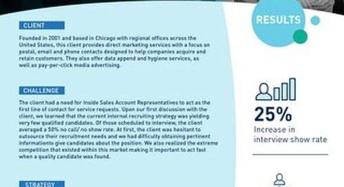 [Recruitment] Gaining Client Credibility to Reach 100 Percent Fill Rate Case Study