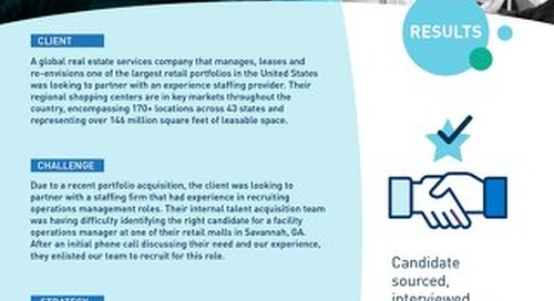 [Recruitment] In Depth Skills Interview Leads to Experienced Operations Hire Case Study
