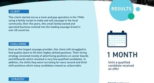 [Manufacturing] Seeking Out Passive Candidates to Find Quality Hires Case Study