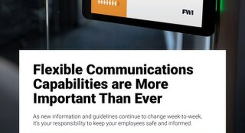 Communicate Facility, Health, and Safety Information Quickly
