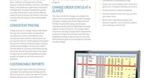 Trimble Accubid Change Order Datasheet
