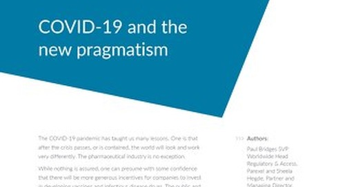 COVID-19 and the new pragmatism