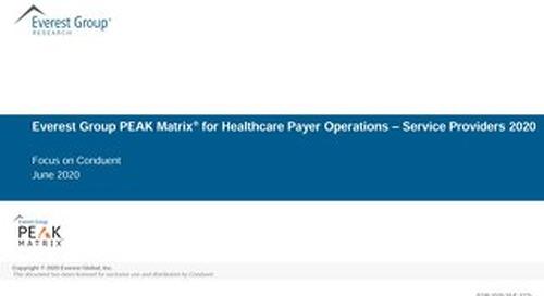 Healthcare Payer Operations – Services PEAK Matrix® Assessment 2020