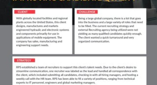 [Manufacturing] RPS Reduces Time to Fill While Improving Candidate Quality Case Study