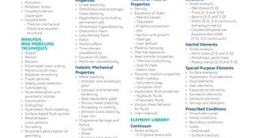 SIMULIA Abaqus Explicit Datasheet