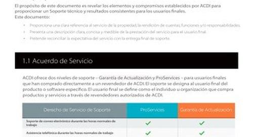 Maintenance & Support Agreement - ESP