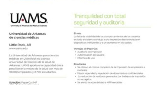 PaperCut UAMS Case Study General Esp