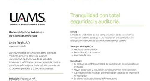 Estudio de Caso de PaperCut MF en la industri de la Salud