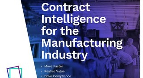 Enterprise Contract Management for Manufacturing