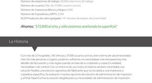 Estudio de Caso de PaperCut MF en la Industria de la Salud