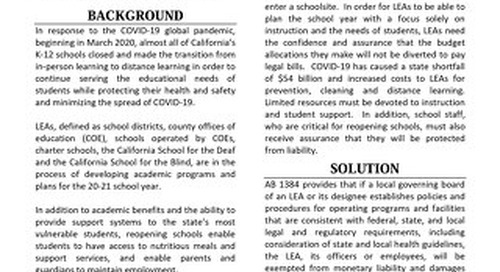 AB 1384 (O'Donnell) Fact Sheet