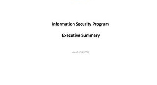 Policy Manager-Executive Summary-Sample Report