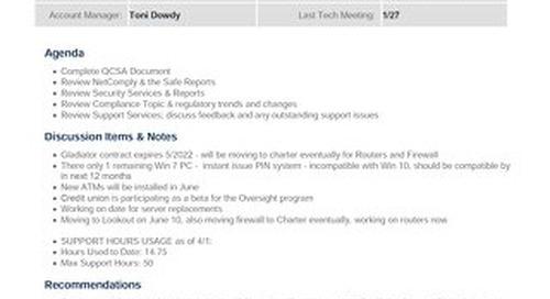 QCSA Sample - Credit Unions