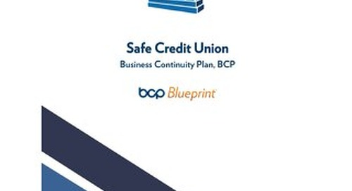 Sample BCP for Credit Unions