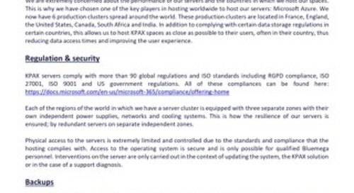KPAX security note about MS Azure hosting 2020