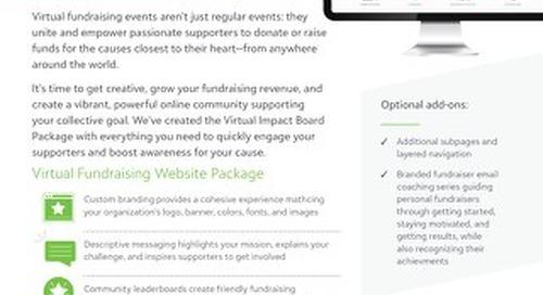 Virtual Fundraising Events Datasheet