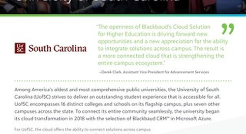 UofSC Strengthens Campus Ecosystem with Blackbaud Cloud Solutions