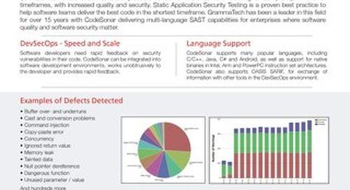 CodeSonar Datasheet 6.0