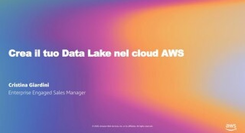 Crea il tuo Data Lake nel cloud AWS_Welcome